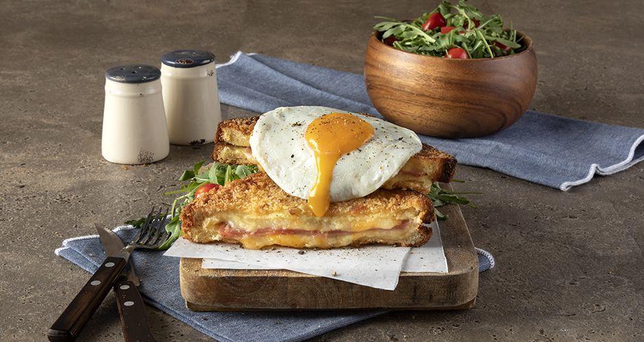 Recipe main deep fried croque madame