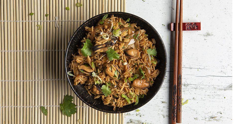 Τηγανητό ρύζι με μύδια