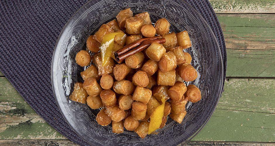 Greek sweet phyllo bites - Kourkoubinia
