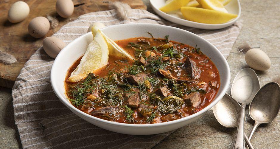 Greek Easter soup with tomato – Magiritsa
