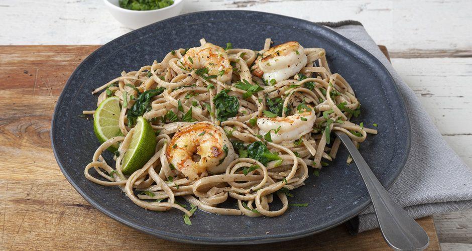 Coconut shrimp linguine pasta