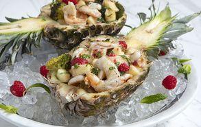 Recipe thumb salata me garides kai anana