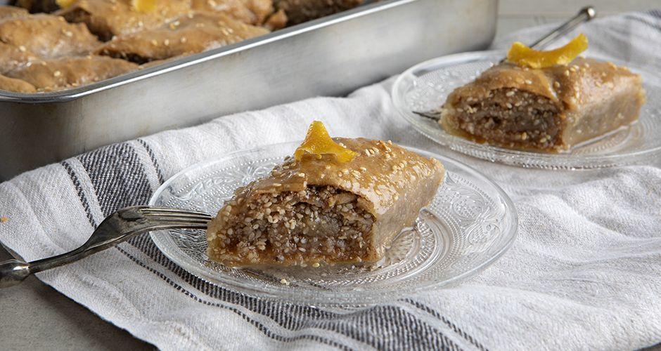 Greek sesame pie