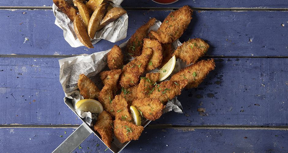 Σπιτικά fish fingers