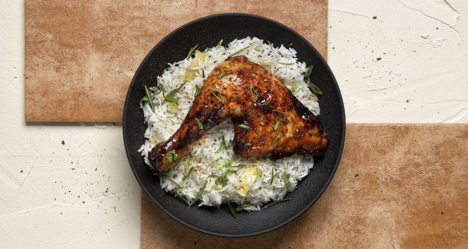 Κοτόπουλο μπούτι με μέλι και σόγια