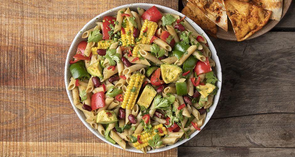 Healthy Tex-Mex pasta salad (high-protein)