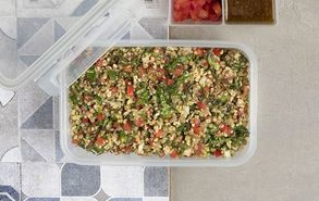 Recipe thumb salata me fakes pligouri kai laxanika site