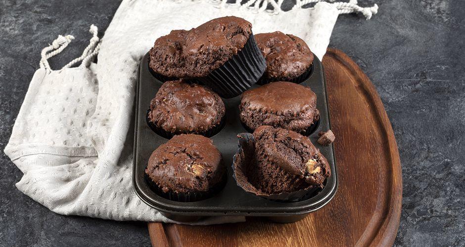 Muffins τριπλής σοκολάτας