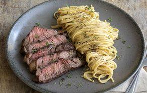 Recipe thumb steak pasta