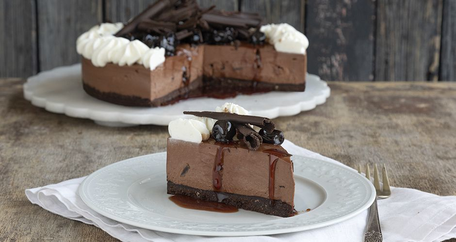 Recipe main black forest cheese cake