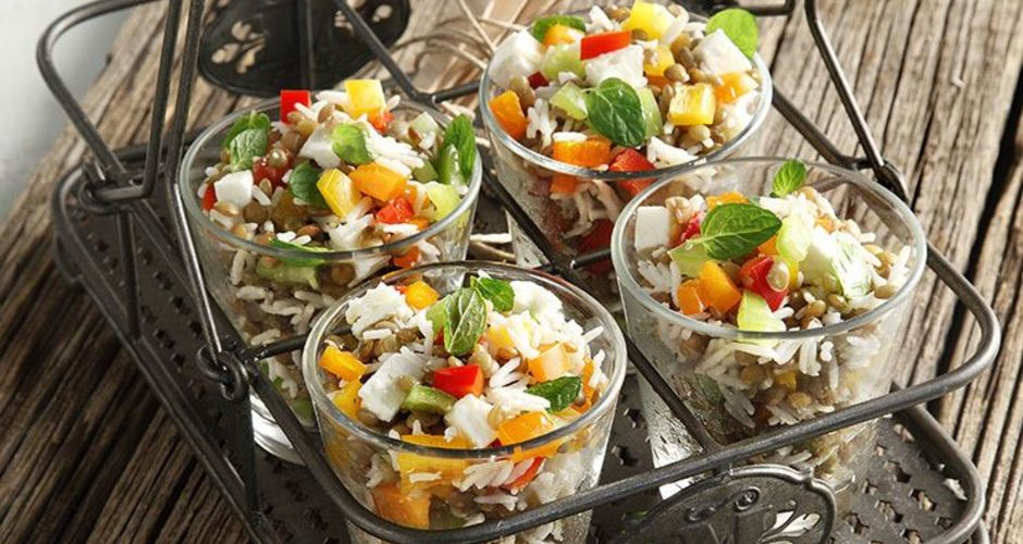 Warm Salad with Baked Lentils