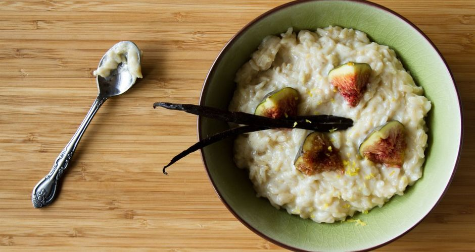 Greek Rice Pudding with Figs