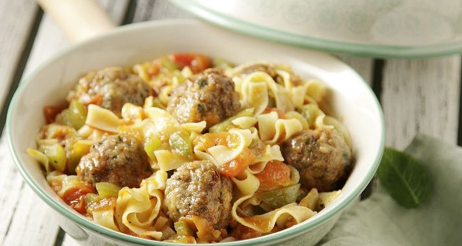 Meatball and Noodle Casserole