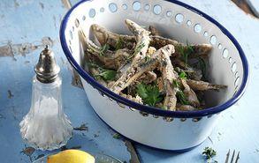 Recipe thumb akis petretzikis ouzomezedes gauros tiganitos