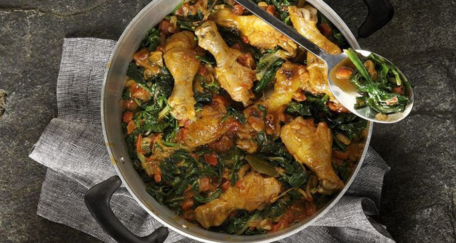 Chicken and Collard Greens Stew