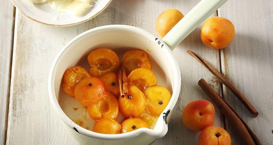 Apricot and Gruyere Saute