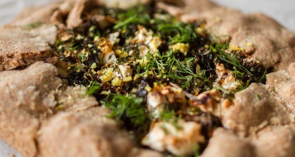 Mushroom and Chard Galette