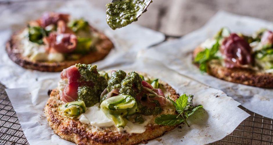 Pizza with a Cauliflower Crust