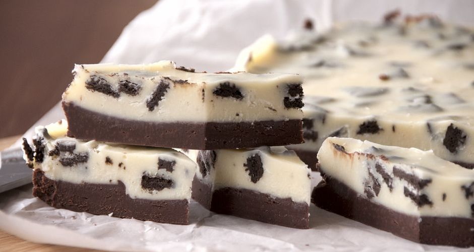 Double chocolate fudge squares