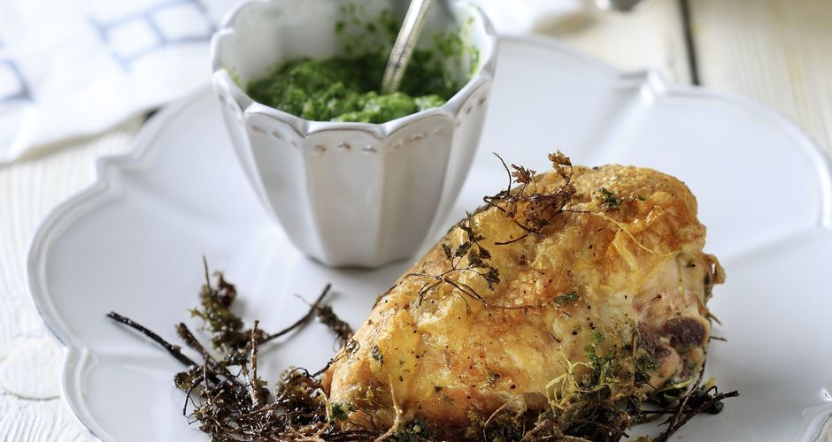 Chicken with a Green Chervil Sauce