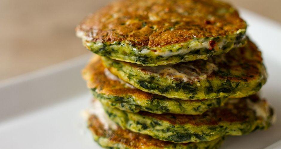 Pancakes με σπανάκι