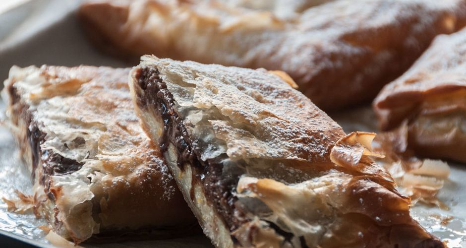 Custard and Double Chocolate Pockets