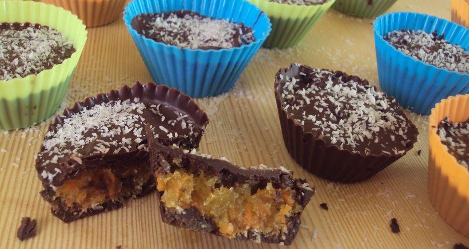 Ταρτάκια σοκολάτας με καρύδα και καρότο