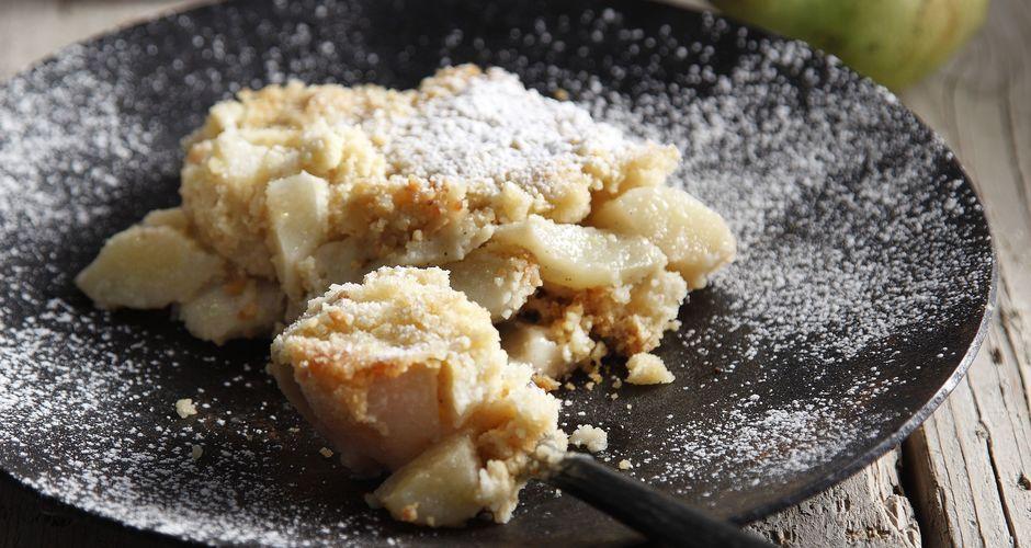 Τραγανά αχλάδια με καστανό βούτυρο