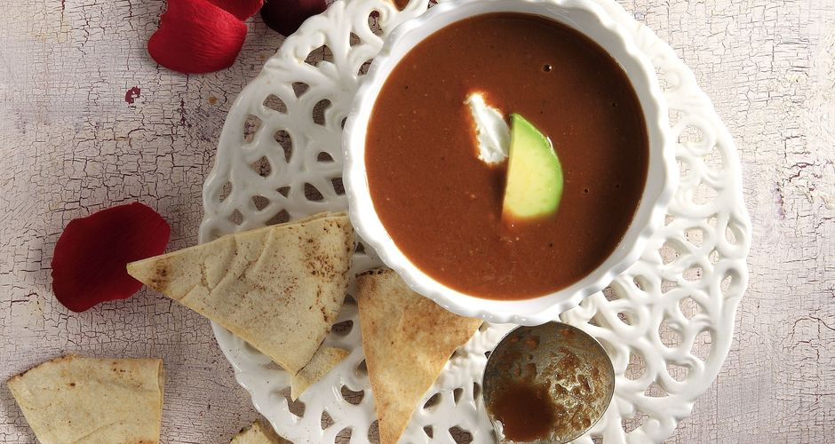 Spicy Tomato and Chocolate Soup