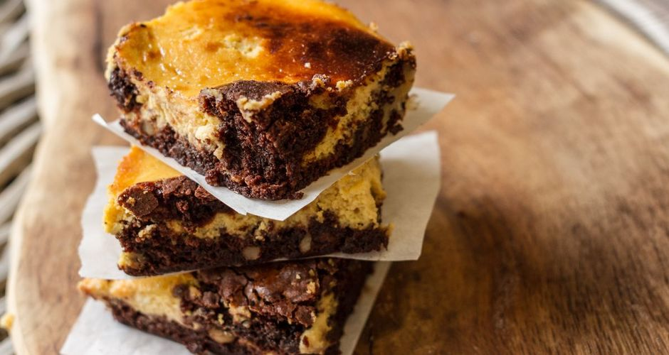 Brownies με κολοκύθα και καρύδια