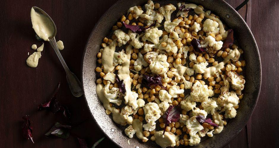 Roast Cauliflower and Chickpeas