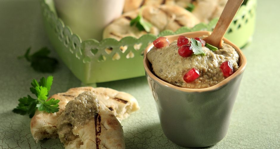Baba Ghanoush with paprika