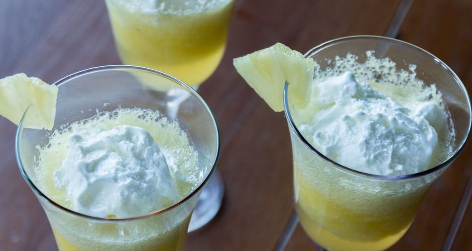 Pineapple and ginger beer dessert