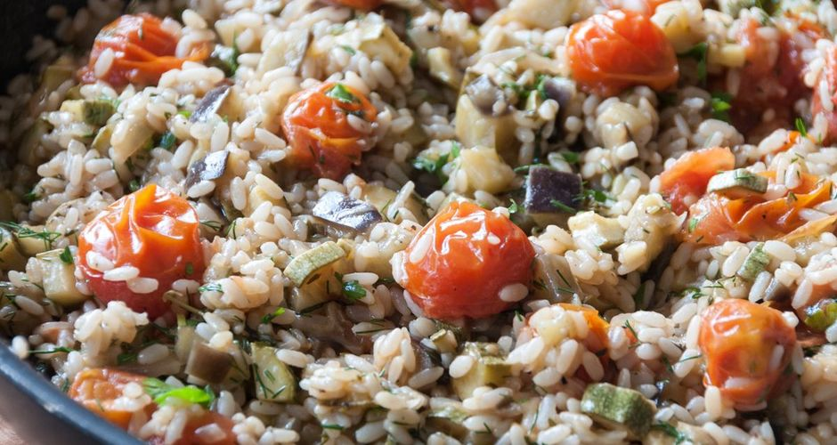 Aromatic summer risotto