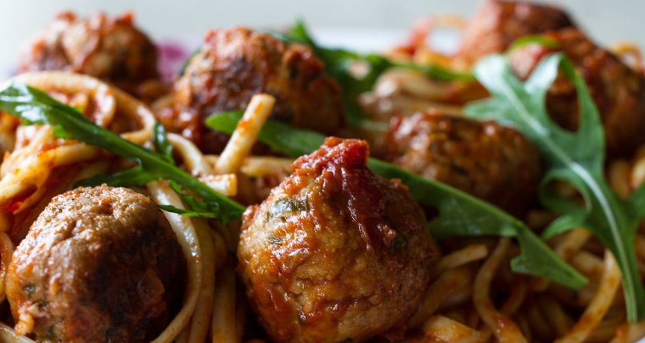 Turkey meatballs and pasta