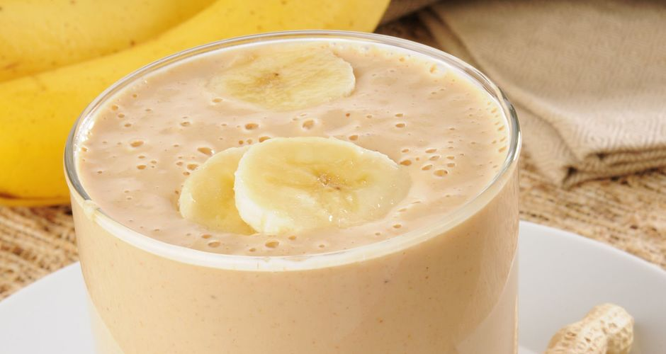 Banana smoothie milkshake