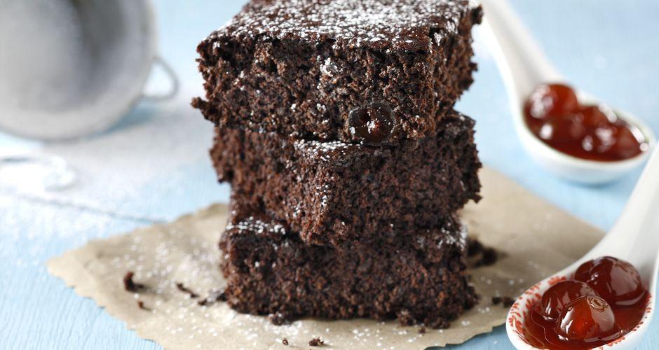 Brownies με σοκολάτα και κεράσι