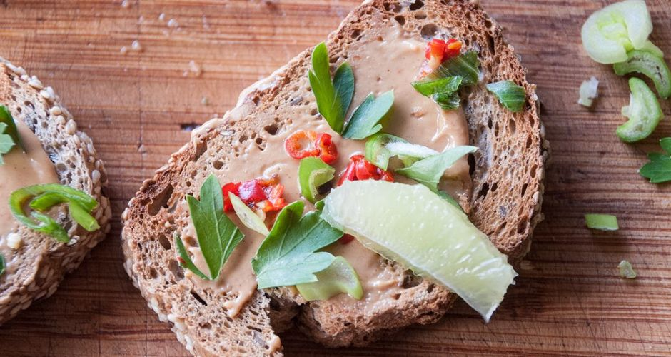Peanut Butter Bruschetta