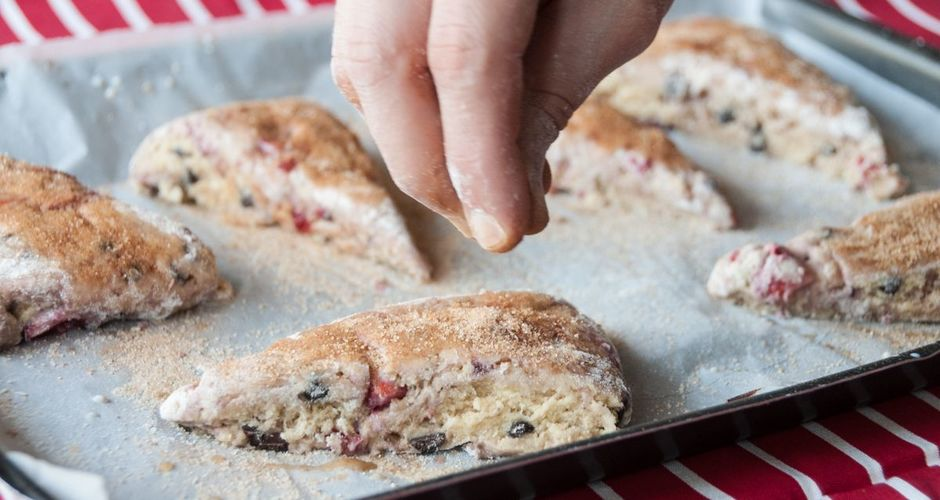 Strawberry and Chocolate Scones