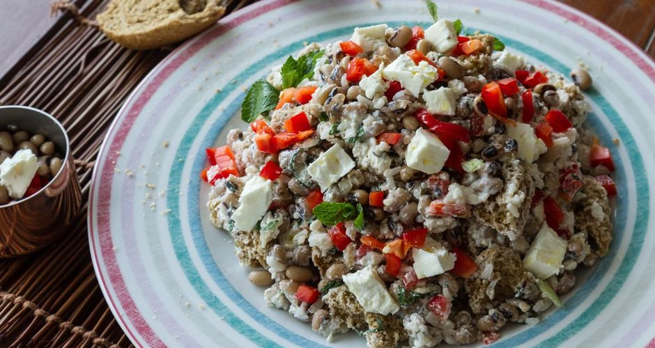 Black Eyed Peas and Rice Salad