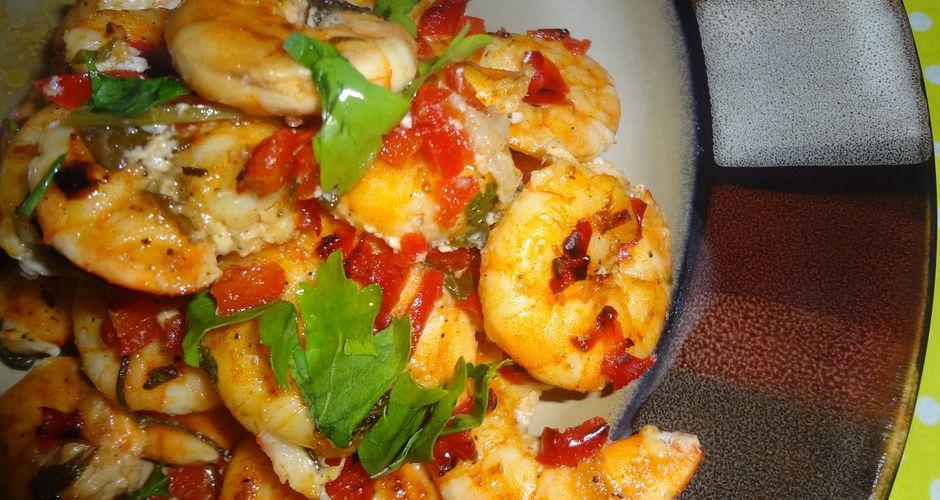 Γαρίδες σκορδάτες φούρνου