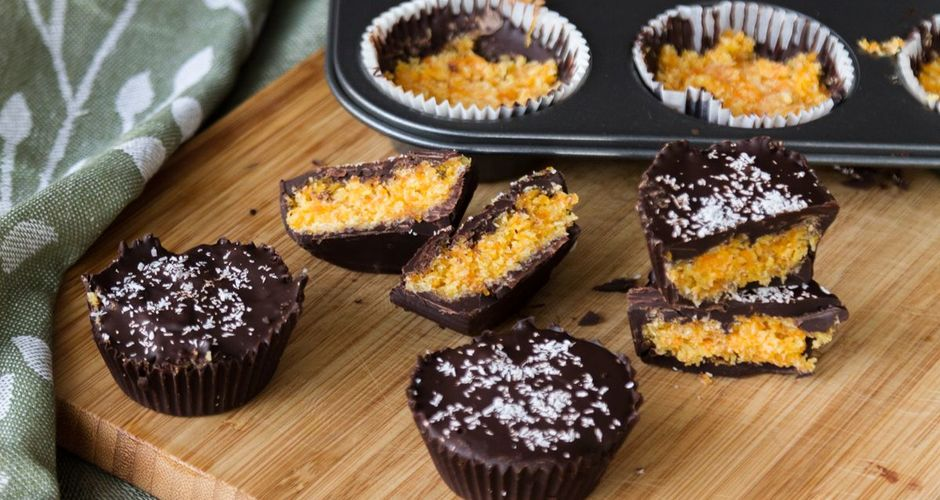 Carrot and Coconut Chocolate Cups