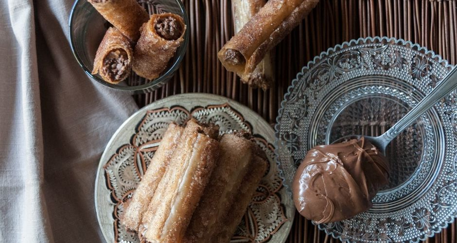 Walnut and Hazelnut Chocolate Praline Wafer Rolls