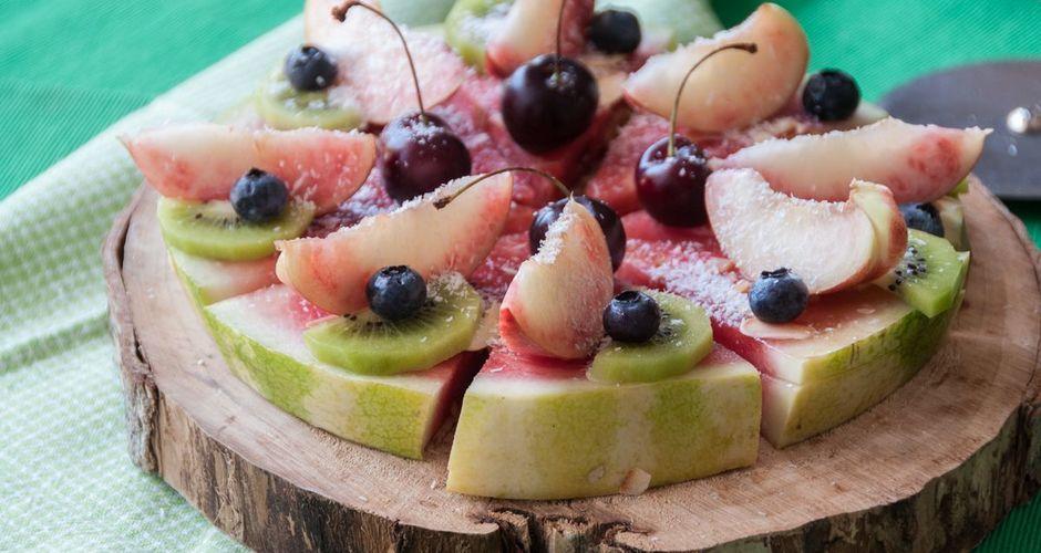 Sweet watermelon pizza