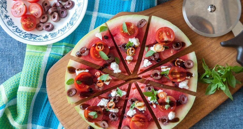 Αλμυρή πίτσα καρπούζι