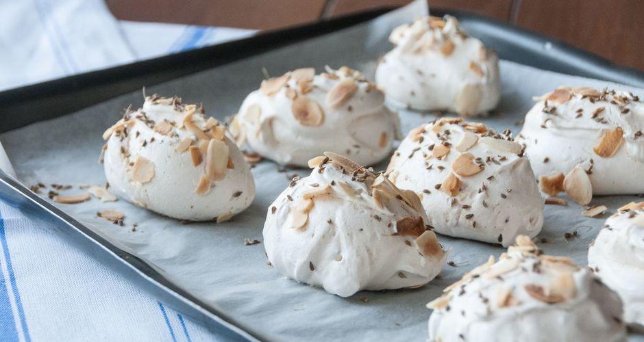 Star Anise Meringue Cookies