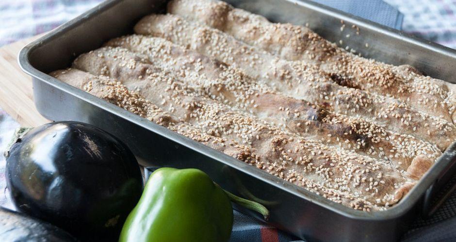 Eggplant Feta Cheese and Balsamic Vinegar Pie Rolls
