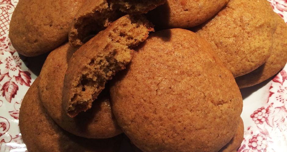 Μαλακά Cookies με κολοκύθα