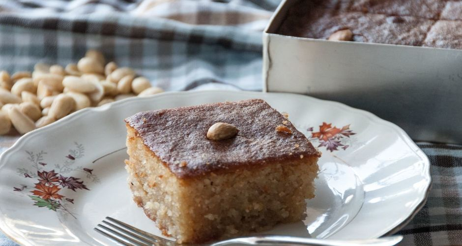 Almond Cake with Bitter Almond Syrup