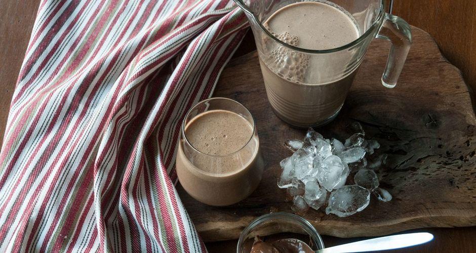Chocolate banana and espresso smoothie
